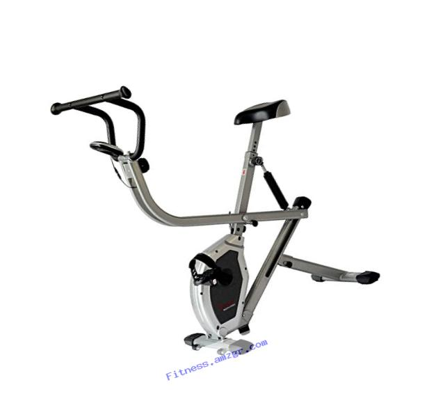 Sunny Health & Fitness Exercise Bike 2-in-1 Upright Bike and Rowing Machine - SF-B2620