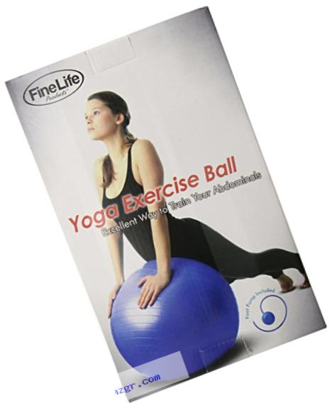FineLife Fitness and Yoga Ball Set with Foot Air Pump